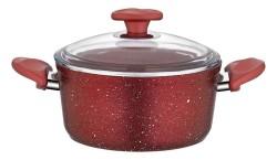 Papilla - Papilla Vilma Granit Tencere 24 cm Kırmızı