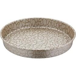 Papilla - Papilla Desert 30 Cm Derin Tepsi, Beyaz Magma Desen