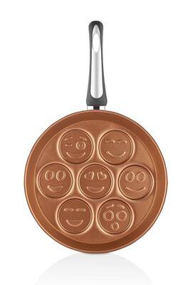 Papilla Redio 28 Cm Emoji Pancake & MücverTavası, Bakır