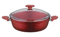 Papilla - Papilla Vilma 24 cm Granit Karnıyarık Tencere, Kırmızı