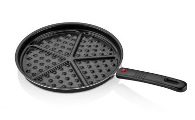 Papilla Redio 26 Cm Waffle Tava, Siyah